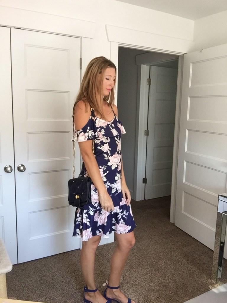 Floral Off-the-Shoulder Dress