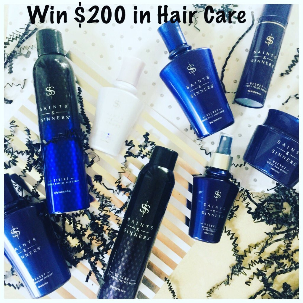 GIVEAWAY: Win over $200 in Hair Care - The Whole Line from Saints & Sinners