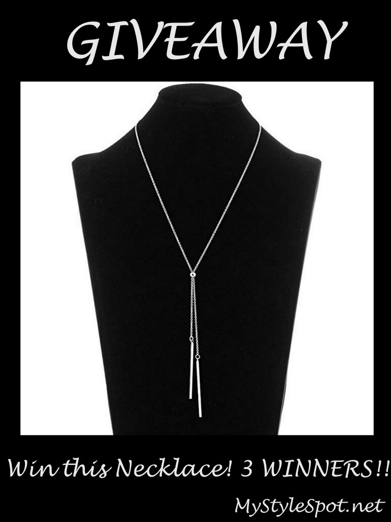 GIVEAWAY: Win a Gorgeous Lariat Necklace -3 WINNERS