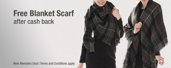 Get a FREE Blanket Scarf in cash back