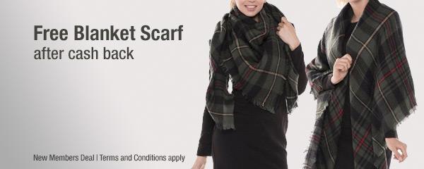 Get a FREE Blanket Scarf in cash back