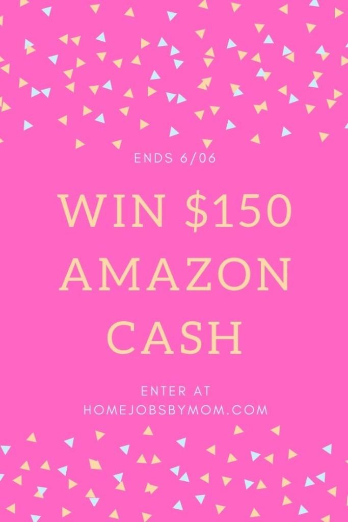 Enter to win $150 Amazon Cash -OPEN WORLDWIDE