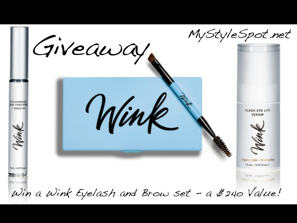 Win a Wink brow and lash kit - a $240 value!