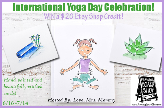 Enter to win a $20 etsy gift card for international yoga day
