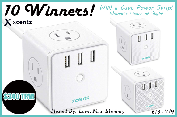 Enter to win a power strip cube- 10 winners!