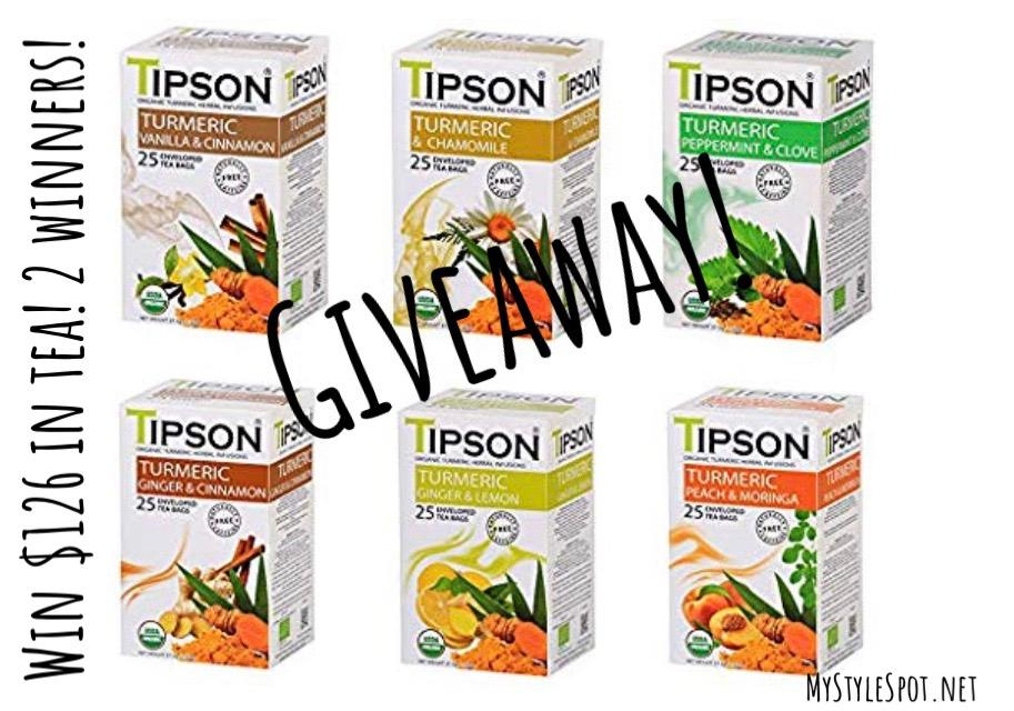 GIVEAWAY: Win $128 in Superfood Tea from Tipson Tea - 2 WINNERS