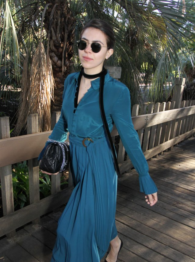 KarlaVargas-GreenDress-SanDiego-BalboaPark-WhatToWear