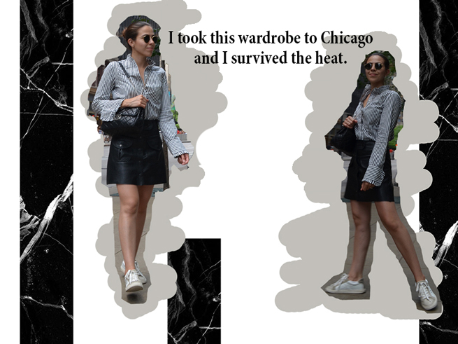 ChicagoTrip-HowToWear-WhatToWear-PersonalStyle-KarlaVargas-BlackSkirt-Stripes-SummerTrip-Summer2017