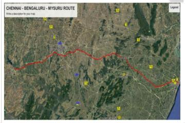 Tentative Route | Chennai Bengaluru Mysuru High Speed Rail
