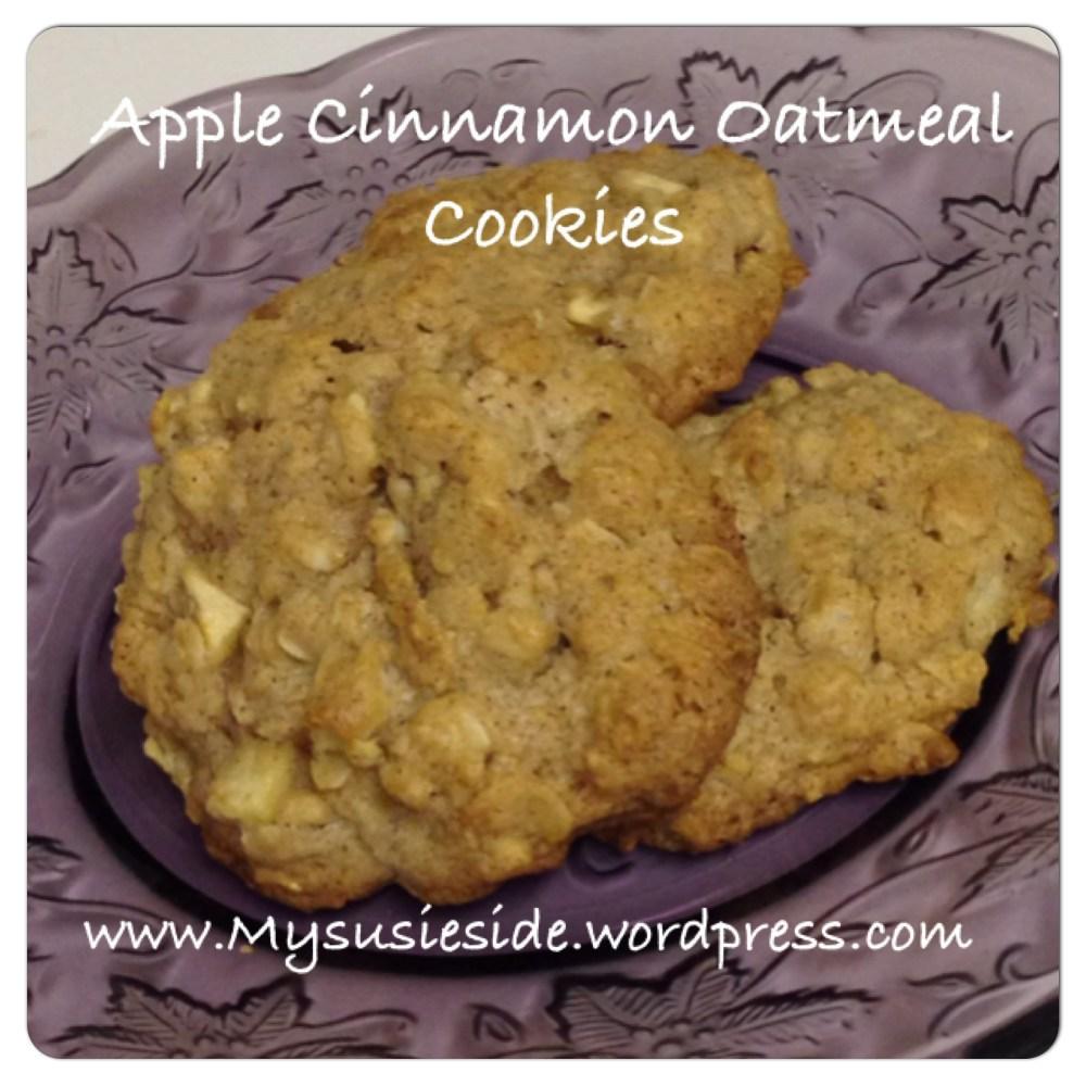 Apple Cinnamon Oatmeal Cookies (1/4)