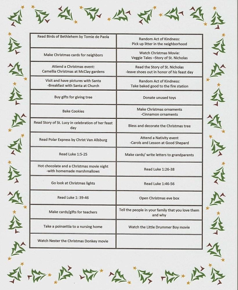 Advent Calendar -Preparing for Christmas (6/6)