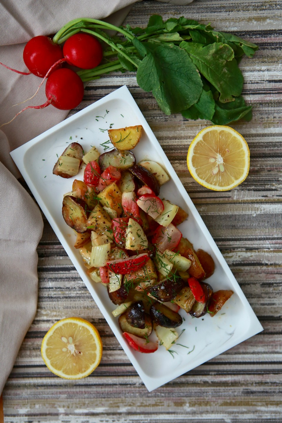 Roasted radish with lemon dill brown butter