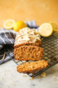 Lemon coconut zucchini loaf | healthyish | snack loaf | zucchini loaf | lemon loaf | kid approved | school lunchbox snacks