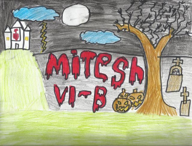 Mitesh In Halloween Style