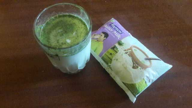 Moringa Powder Added To Butter Milk