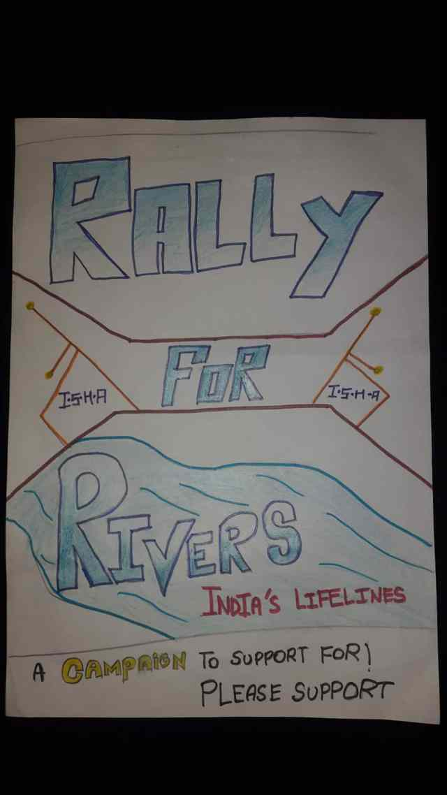 #RallyForRivers Poster Designed By Mithu