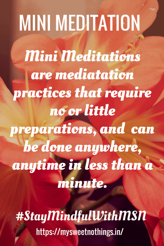 M For Mini Meditation