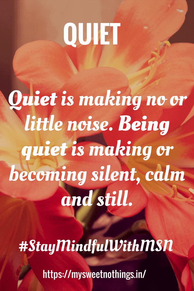 Q For quiet
