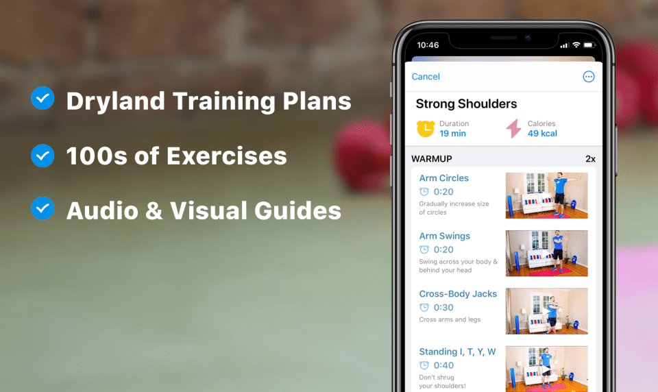 Dryland training plan features