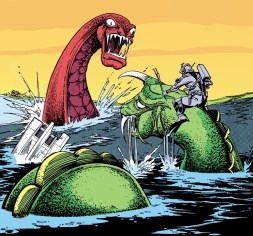 Sea-Dragons and a Dragon Lord rider. Art by Carmine Infantino
