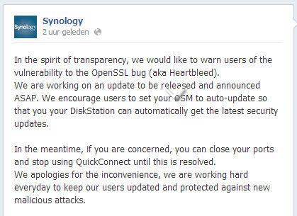 OpenSSL Mededeling