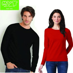 Long Sleeve T-shirts with embroidery or silk screen printing