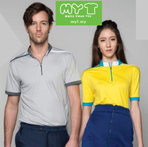 collar zip polo t-shirts with embroidery or silk screen printing