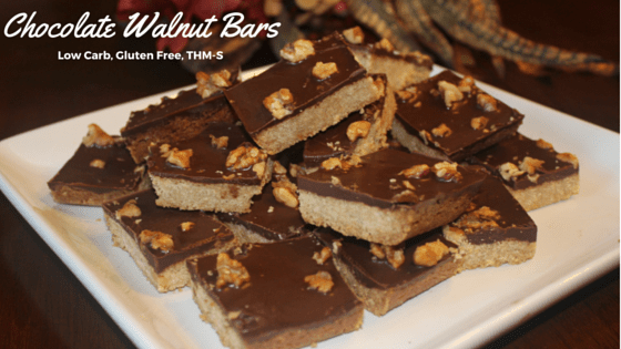 Chocolate Walnut Bars (LCHF,THM-S)