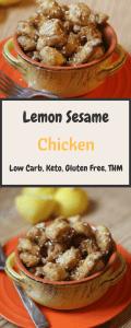 Lemon Sesame Chicken Pin
