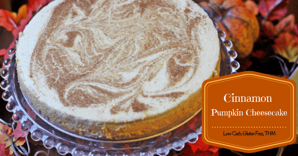 Low Carb, Keto, Gluten Free and THM Friendly Cinnamon Pumpkin Cheesecake