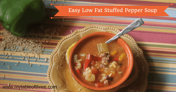 "East Stuffed Pepper Soup has all the flavors of stuffed bell peppers. This recipe is low fat, gluten free and a THM ""E""."