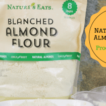 A full product review and video on Nature's Eats Almond Flour by My Table of Three.