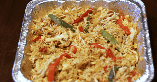 "Chicken Fajita Rice is low fat, gluten free and a great healthy one pot family freezer meal. THM ""E""."