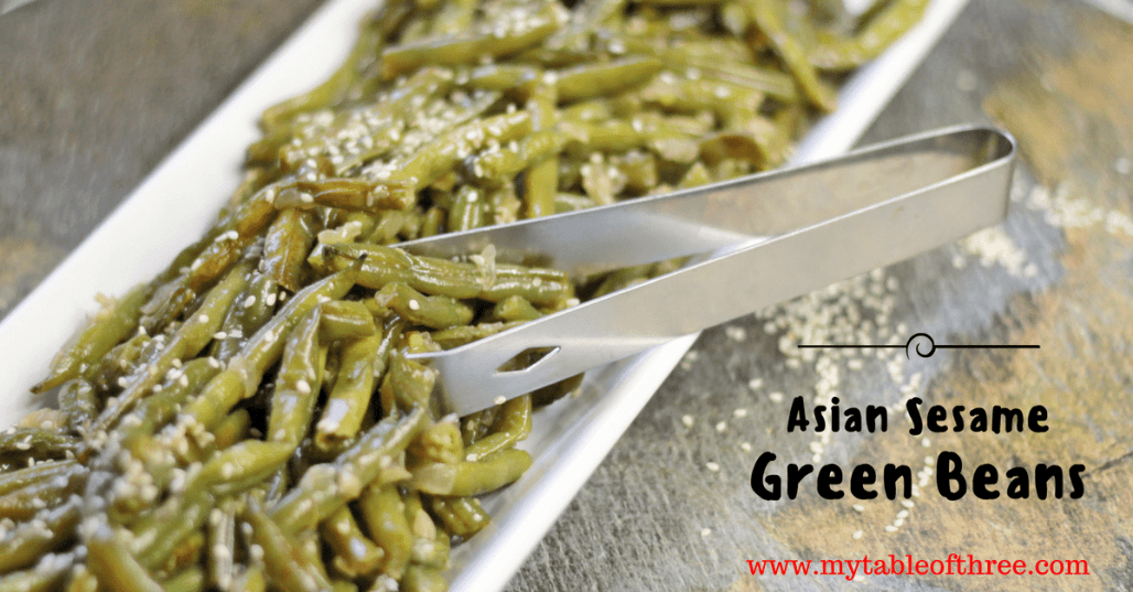 Asian sesame green beans my table of three recipe image forumfinder Choice Image