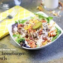 My Table of Three's Bacon Cheeseburger Bowls