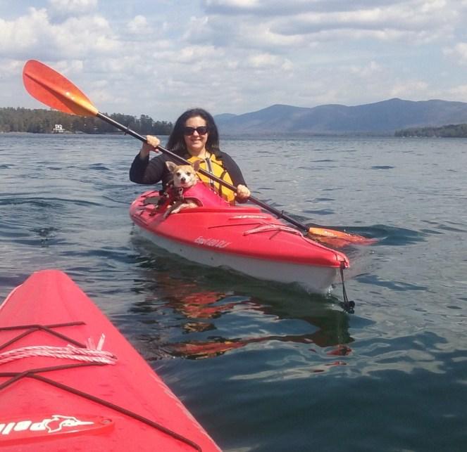 Michelle Maskaly kayaking lake George