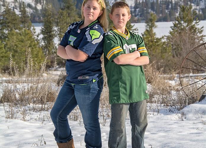 Madison & Colby Tareski ~ Seahawks vs Packers