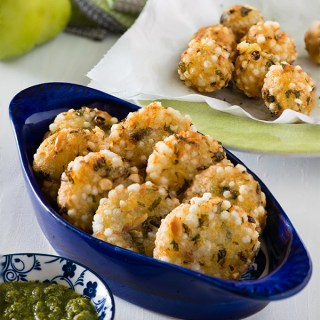 Sabudana vada is a delicious crisp deep fried popular snack from Maharashtra. It is made with sago/tapioca pearls or sabudana. Traditionally, sabudana vada recipe is made using deep frying technique, but you can always make Sabudana vada in air fryer or baked sabudana vada using this recipe.