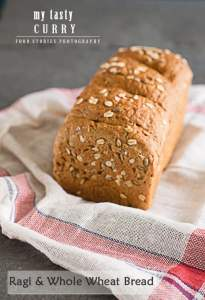 Ragi and Whole Wheat Bread   Finger Millet and Whole Wheat Bread