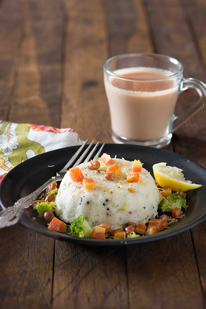 The Indian breakfast of vegetable upma and cups of steaming hot filter coffee is favorite breakfast in most South Indian homes. But vegetable upma with steaming cup of masala chai is what my family loves