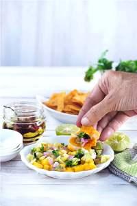 Mango Salsa with Serrano Chile | Delicious Appetizer