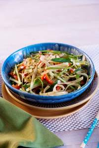 Green Curry Pad Thai Noodles