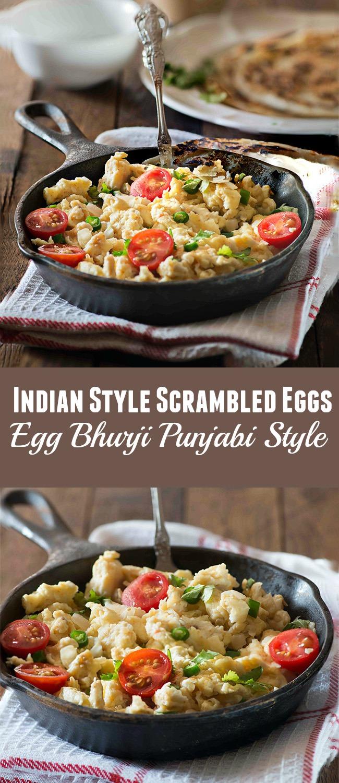 Spicy Indian Style Scrambled eggs Egg Bhurji