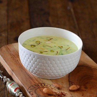 Hare Matar ki Kheer, Yes you read it right! It's kheer made with green peas or hare mattar. This very unusual kheer recipe finds it's origin from Awadhi cuisine. A beautiful green color, rich taste and a soothing texture, all of this makes the matar ki kheer a delightful dessert.