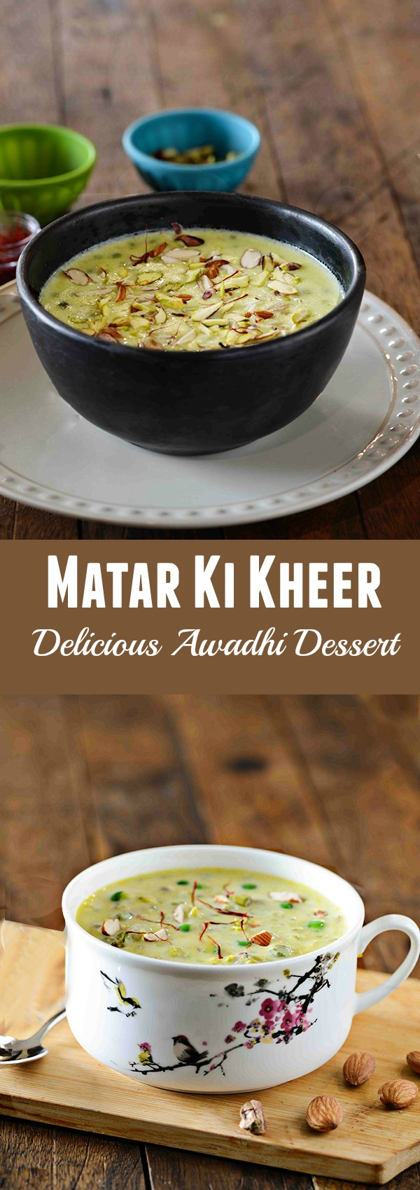 Hare Matar ki Kheer or green peas kheer is kheer made with green peas or hare matar. This unusual kheer recipe finds it's origin from Awadhi cuisine. An Indian dessert that is Rich delicious and creamy