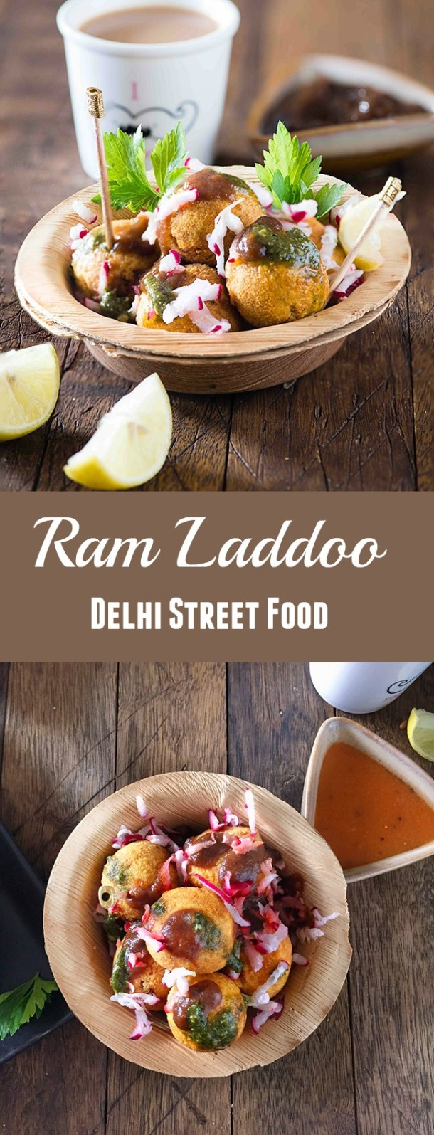 Ram laddoo is crispy outside and fluffy inside topped with green chutney and radish is best Indian street-side snack ever in winters you can find on Delhi streets. Ram laddoo is the only deep fried snack that I can't resist most of the times. Till the date of all the ram laddoos chaat I have tried best Ramladdoo in Delhi, I got in Lajpat Nagar Market