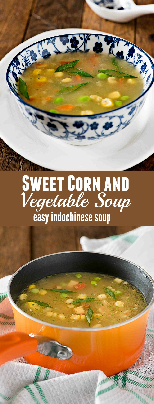 Sweet corn vegetable soup is popular soup recipe from Indo Chinese cuisine. This soup is prepared with fresh sweet corn and lots of vegetables. One of the easy to cook soup recipe sweet corn soup is flavourful and packed with healthy vegetables
