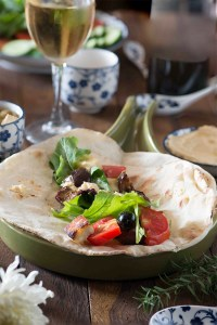 Labanese Veggies and Haloumi Breakfast Wrap
