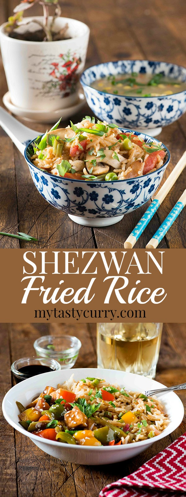 Chinese Schezwan fried rice recipe in 20Minutes.Better than take out, healthy, Super quick, spicy and delicious to the core. #20Minutes #FriedRice #Chinese #BetterThanTakeout