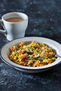 Vegetable Poha Recipe : Indian Breakfast of Poha Made Healthy